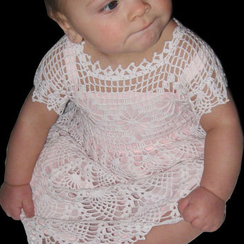 Baby Christening Dress or Flower Girl Dress by ButterflyKissesLLC