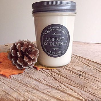 Snickerdoodle cookie soy candle glass jelly jar teen room kitchen birthday gift for her organic fall autumn chef cook gift christmas stocki