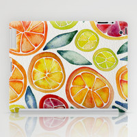 Sliced Citrus Watercolor iPad Case by Cat Coquillette
