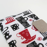 Nook Simple Touch Cover Kindle Fire Cover iPad Mini Cover Kobo Cover Case Coffee Cappuccino Cups eReader