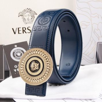 VERSACE Woman Fashion Smooth Buckle Belt Leather Belt H-A-GFPDPF-1