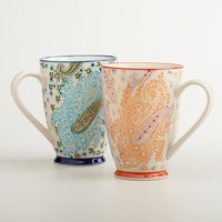Paisley Mugs, Set of 2 - World Market