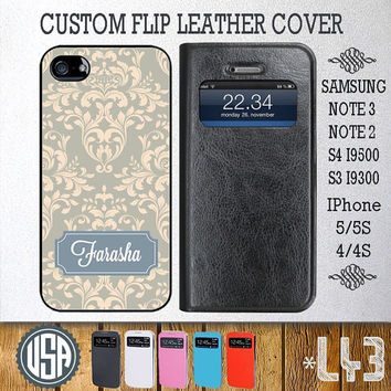 Army Floral Pattern Flip Leather Cover @ Samsung Galaxy S4 case , Samsung S3 cover , Samsung Note 3 Note 2 , IPhone 5 5S , IPhone 4 4S L43