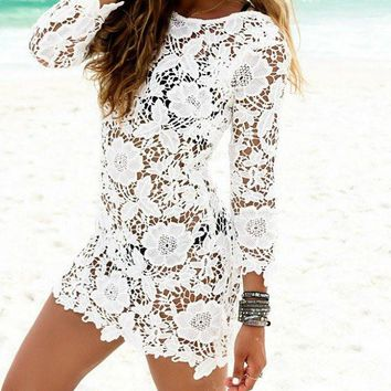 Hello There Lace Cover Up