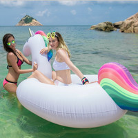 Giant Rainbow Unicorn Float Swimming Raft