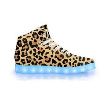 Leopard - APP Controlled High Top LED Shoes