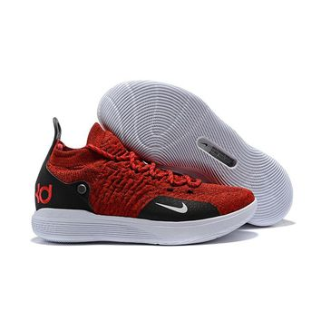 Nike KD 11 Red White Black Kevin Durant Sneakers - Best Deal Online