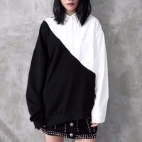 Black + White Loose Shirt