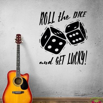 Wall Decal Board Game Dice Amusement Lucky Casino Vinyl Sticker (ed930)