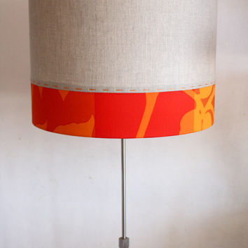 linen stitched floor lamp