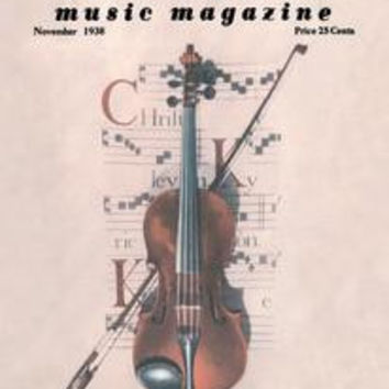 Violin on Magazine Cover: Fine art canvas print (12 x 18)