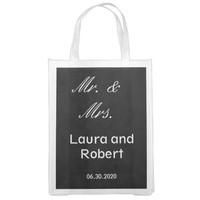 Customizable Black and White Reusable Wedding Bag