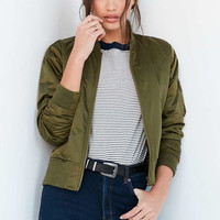 Silence + Noise Gaby Swing Bomber Jacket - Urban Outfitters