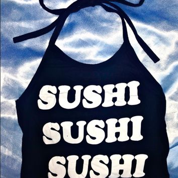 SWEET LORD O'MIGHTY! SUSHI HOE HALTER IN BLACK