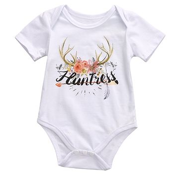 Newborn Baby Girl Clothing Cotton Bodysuit Short Sleeve Cute Flower Jumpsuit Playsuit Outfits Clothes Baby Girl