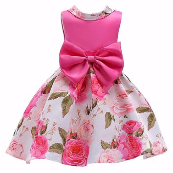 LZH Baby Girls Princess Dress Infant Party Dresses Kids Bridesmaid Wedding Dress For Girls Dress 2018 Summer Children Clothing