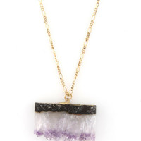 Nice Slice Amethyst Crystal Necklace