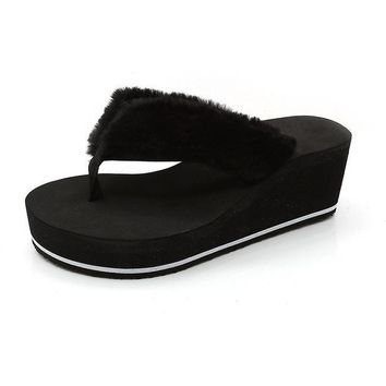 Fur Casual Creepers Sandals