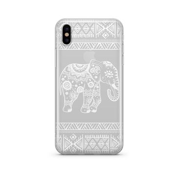 Henna Aztec Sundala Elephant - Clear TPU Case Cover Phone Case