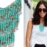 Turquoise Tier Necklace