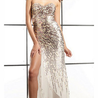 Long Sequin Prom Dress by Terani
