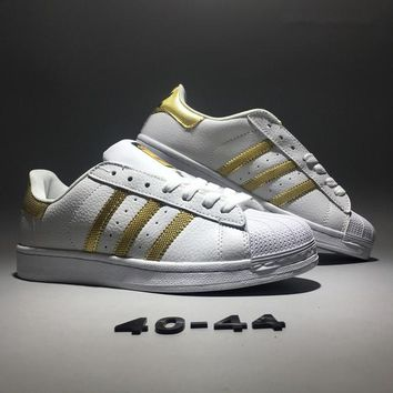 """Adidas Originals Superstar ll"" Men Classic Casual Fashion Stripe Shell Head Plate Shoes Sneakers Small White Shoes"