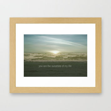 *** YOU ARE THE SUNSHINE OF MY LIFE *** OCEAN Framed Art Print by M✿nika  Strigel