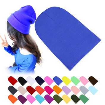 Winter Warm Hats Unisex Knitting Women Men Wool Fluorescence Color Sport Outdoors Tabby Solid Elastic Beanie Hedging Hat