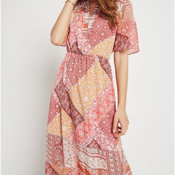 Women's BCBGeneration Rug Patchwork Print Maxi Dress