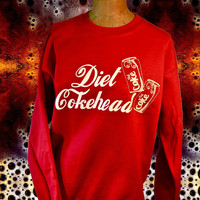UNISEX Diet Cokehead Coke-a-Cola Illustration Sweatshirt.