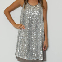 Ya Los Angeles - Sleeveless Sequin Dress