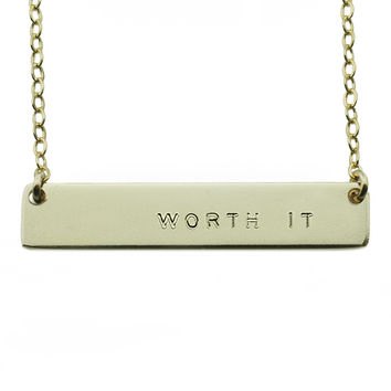 The Name Plate Necklace Worth It