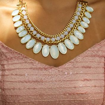 Hidden Gems Necklace: Opal/Gold