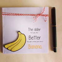 Funny Card, Banana Card, Humorous Card, Special Occasion Card, Birthday Card