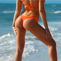 Tangy Orange Thong Bottom by Surf Style - Surf Style - Brands
