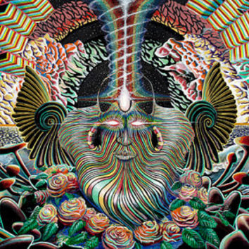 The Everlasting Knowitall Sacred Spiritual Psychedelic visionary art print by artist Douglas Lakota