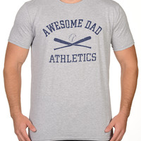 Sport Grey Baseball Bats Athletics T-Shirt