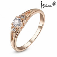 New Sale Brand TracysWing Rings for women Genuine Austrian Crystal 18KRGP Gold Color Fashion ring Zirconia #RG90671