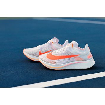 AA HCXX WMNS Nike Zoom Fly SP- White/Sunset Pulse