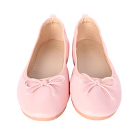 Pink Ribbon Flat Shoes