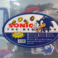 Sega Sonic The Hedgehog For GBA Gameboy Advance 7 Kit Set Game Pouch Adapter Magnifier Cable Bracelet Magic Stick Monitor Proof
