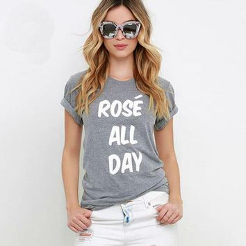 Rose All Day - Print Funny Women's T-shirt