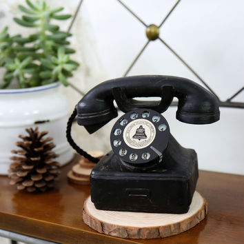 Vintage Weathered Phone Resin Decoration Crafts Home Decor [6282541638]