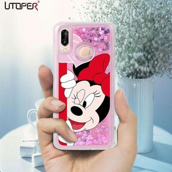 UTOPER Mickey Coque For Huawei P Smart Case Silicone Liquid Luxury Mouse Phone Case For Huawei P20 P Smart Lite Case For P Smart