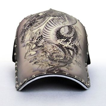Trendy Winter Jacket Original 3D Printing Chinese Style Dragon Peafowl Elephant Skull Eagle Baseball Cap Men WOMEN Fashion Snapback Cap Hip Hop Hat AT_92_12