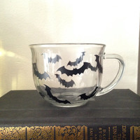 Halloween bat coffee mug clear coffee cup
