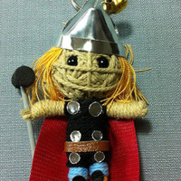 Thor from the movie Avengers String Voodoo Doll Keyring Keychain movie cartoon model film Key Ring Key Chain handmade funny gift cute