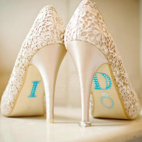 I Do Stickers for Wedding Shoes