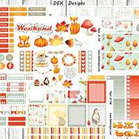 Signs of Fall Sticker Kit, sized for Erin Condren but will work in most planners. 6 sheets and one sampler included on matte removable sticker paper. Kiss cut, just peel and stick.