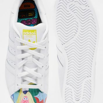 adidas Originals Pharrell Williams X Todd James White Leather Supershell Superstar Sneakers